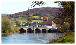 Nearby Builth Wells town in mid Wales.